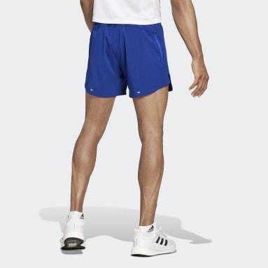 ผู้ชาย วิ่ง สีน้ำเงิน กางเกงวิ่งขาสั้น adidas HEAT.RDY
