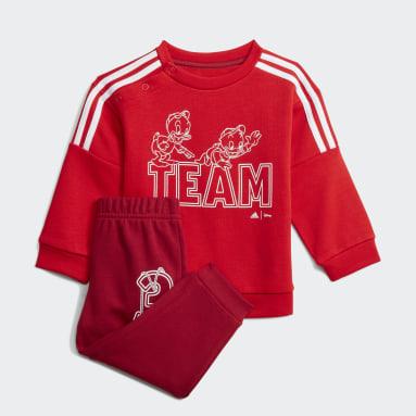 Conjunto Huguinho, Zezinho e Luisinho adidas x Disney Vermelho Criança Sportswear