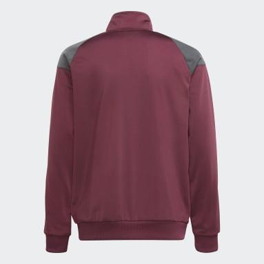 Barn Originals Burgundy adidas SPRT Graphics Track Jacket