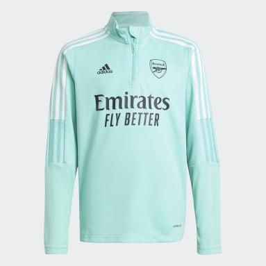 Sudadera entrenamiento Arsenal Verde Niño Fútbol