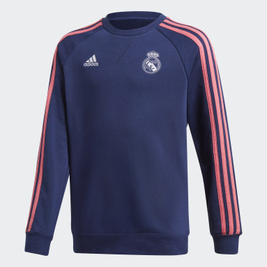 Youth Soccer Blue Real Madrid Crew Sweatshirt