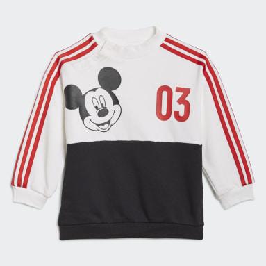 Mädchen Fitness & Training Disney Mickey Maus Jogginganzug Weiß