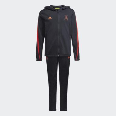Boys Gym & Training Black X Football-Inspired Track Suit