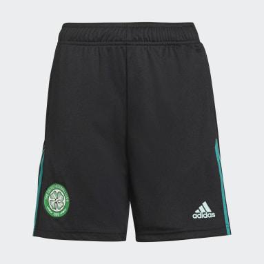Pantalón corto entrenamiento Celtic FC Tiro Negro Niño Fútbol