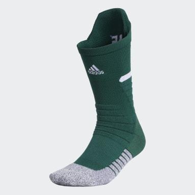 Football Green Adizero Football Cushioned Crew Socks