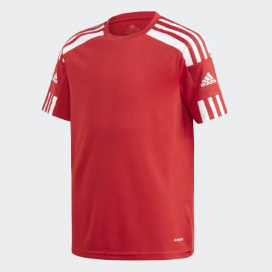 Boys Football Red Squadra 21 Jersey