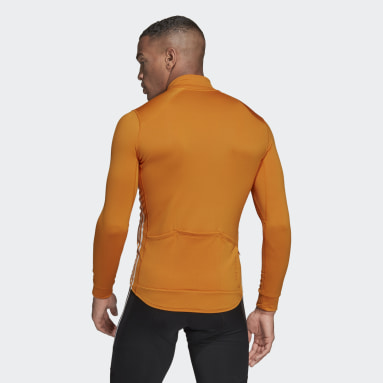 Men Cycling Orange The COLD.RDY Long Sleeve Cycling Jersey