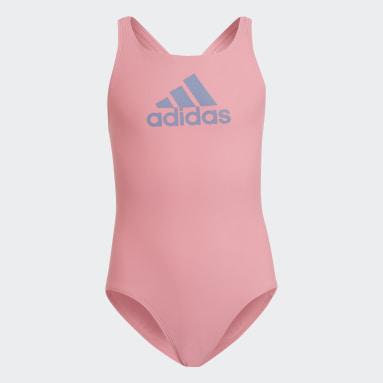 Meisjes Zwemmen Roze Badge of Sport Badpak