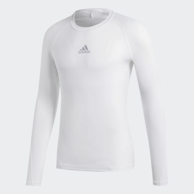 Remera Alphaskin Sport Blanco Hombre Fútbol