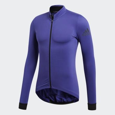 Camiseta de Ciclismo Climaheat Winter Morado Hombre Ciclismo