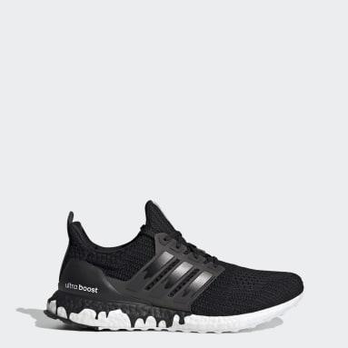 Men Running Black Ultraboost DNA Shoes