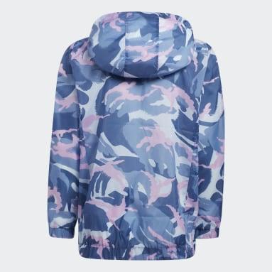 Youth Training Blue Print Wind Jacket