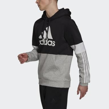 Men Sportswear Black Essentials Fleece Colorblock Sweatshirt