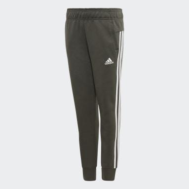 Pantaloni Must Haves 3-Stripes Verde Ragazza Fitness & Training