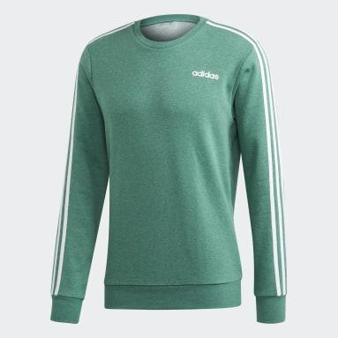 Heren Sportswear Groen Essentials 3-Stripes Sweatshirt