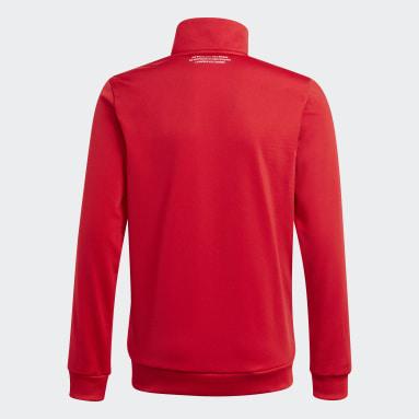 Veste de survêtement Adicolor rouge Adolescents Originals