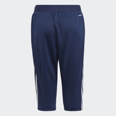 Pantalón 3/4 Tiro 21 Azul Niño Fútbol