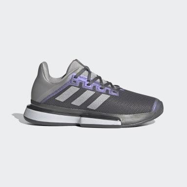 Dames Padel Tennis grijs SoleMatch Bounce Tennisschoenen