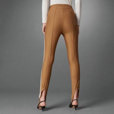 Pantalon de survêtement Blue Version Slim Beckenbauer Marron Femmes Originals