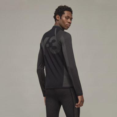Haut Y-3 Classic Knit Base Layer Half-Zip Noir Hommes Y-3