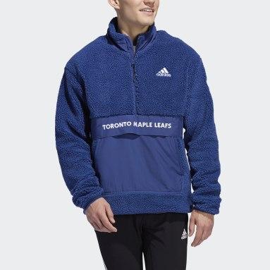 Haut Maple Leafs Sherpa Quarter-Zip Bleu Hommes Hockey