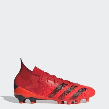 Soccer Red Predator Freak.1 Artificial Grass Cleats