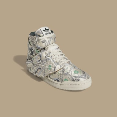 Men's Originals Beige Jeremy Scott Forum Wings 1.0 Money Shoes