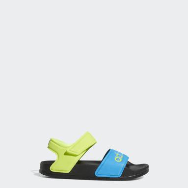Children Yoga Black Adilette Sandals