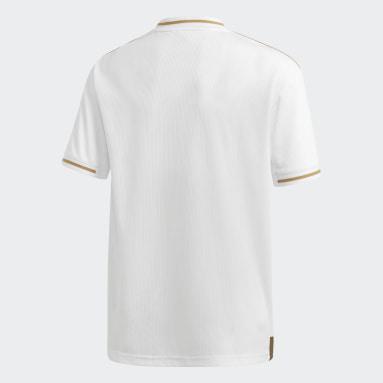 Camisa 1 Real Madrid Branco Meninos Futebol