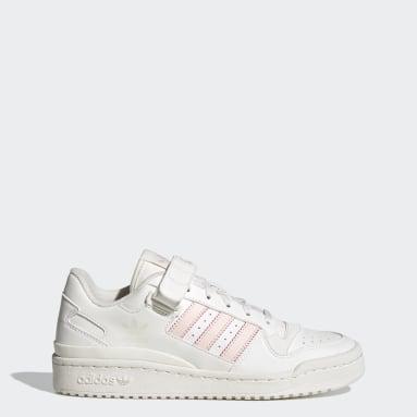 Women Originals White Forum Low Crest Shoes