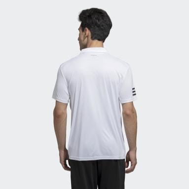 Men Tennis White Club 3-Stripes Polo Tee