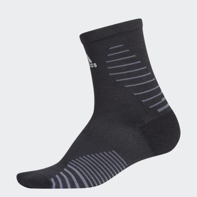 Running Black Running Mid-Crew Socks