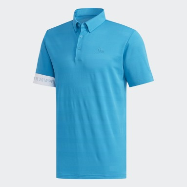 Men Golf Turquoise Polo Shirt