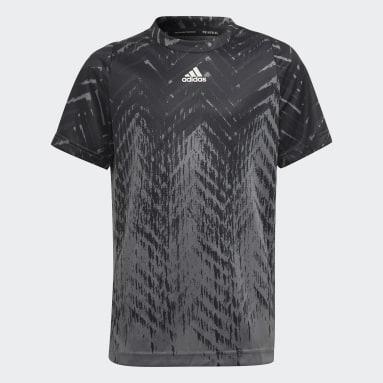 Jongens Tennis Zwart Printed Freelift T-shirt
