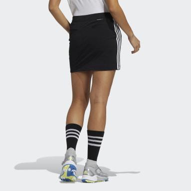 Women Golf Black Primeblue 3-Stripes Skort