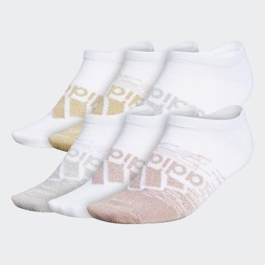 Women's Training White Superlite Badge of Sport No-Show Socks 6 Pairs
