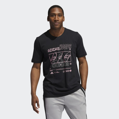 Men's Basketball Black Reflective Basketball Tee