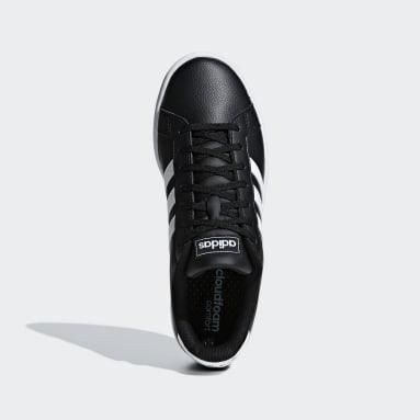 Women's Essentials Black Grand Court Shoes