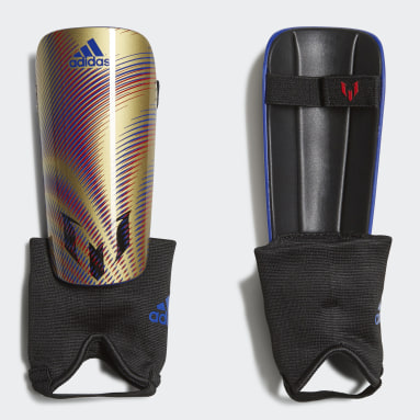 Youth Soccer Gold Messi Match Shin Guards