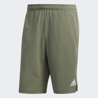 Men Yoga Green All Set 9-Inch Shorts