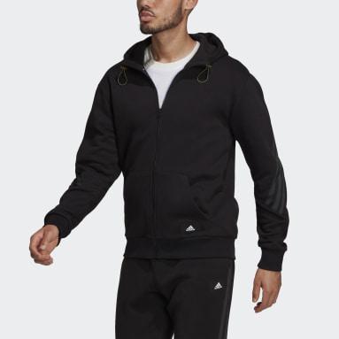 Felpa con cappuccio adidas Sportswear Future Icons Winterized Full-Zip Nero Uomo Sportswear