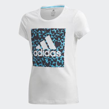 Girls Studio White AEROREADY Leo Graphic T-Shirt