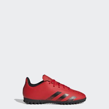Chaussure Predator Freak.4 Terrain turf rouge Enfants Soccer
