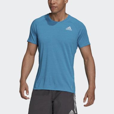 Men Running Turquoise Runner Tee