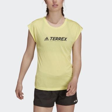 Camiseta Terrex Primeblue Trail Functional Logo Amarillo Mujer TERREX