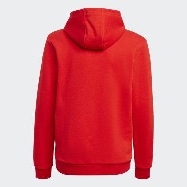 Kids Originals Red Trefoil Hoodie