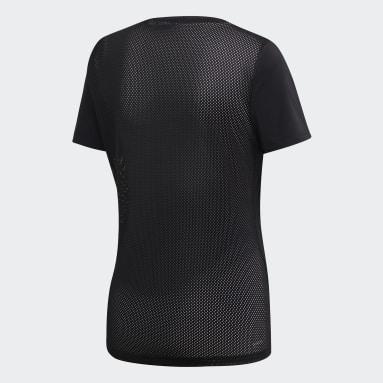 Frauen Fitness & Training Design 2 Move Logo T-Shirt Schwarz