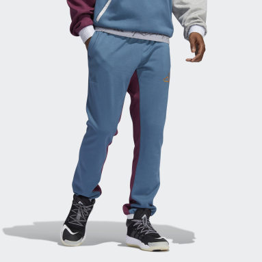 Men's Basketball Blue 3-Stripes Basketball Pants