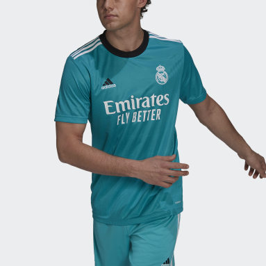 Maillot Third Real Madrid 21/22 Turquoise Hommes Football