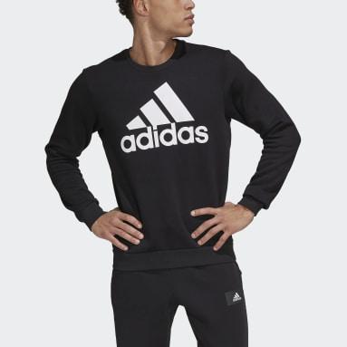 Men Sport Inspired Black Essentials Big Logo Sweatshirt